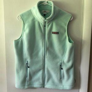 Green fleece vest